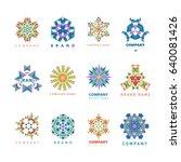 abstract triangular polygonal...   Shutterstock .eps vector #640081426