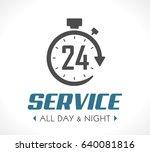 logo   stopwatch concept   all...   Shutterstock .eps vector #640081816