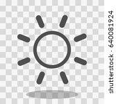 sun icon | Shutterstock .eps vector #640081924