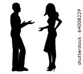 man and woman chatting... | Shutterstock . vector #64008229