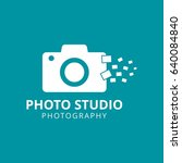 white vector icons for... | Shutterstock .eps vector #640084840