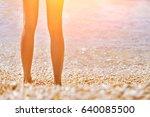 female feet emerging from the... | Shutterstock . vector #640085500