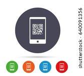 qr code sign icon. scan code in ... | Shutterstock .eps vector #640091356