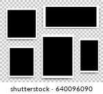 photo frames set mockup design. ... | Shutterstock . vector #640096090