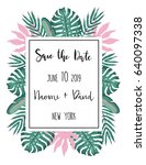 wedding card templates with... | Shutterstock .eps vector #640097338