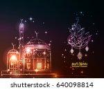 illustration of ramadan kareem... | Shutterstock .eps vector #640098814