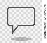 chat icon vector illustration.... | Shutterstock .eps vector #640099078