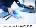 cloud technology. data storage. ... | Shutterstock . vector #640099558