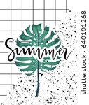 hello summer poster with... | Shutterstock .eps vector #640101268