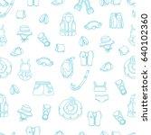 seamless pattern of swimming... | Shutterstock .eps vector #640102360