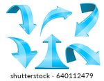 blue arrows. collection of... | Shutterstock .eps vector #640112479