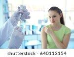 hands of doctor preparing for... | Shutterstock . vector #640113154