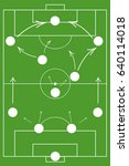 soccer coach tablet with scheme ...   Shutterstock .eps vector #640114018