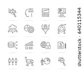 data analysis vector line icons ...