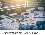 developing programming and... | Shutterstock . vector #640115650