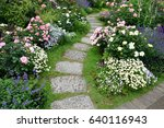 Stock photo flower garden 640116943