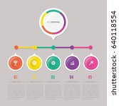 infographic template with 5... | Shutterstock .eps vector #640118554
