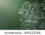 drawn symbols of school... | Shutterstock . vector #640122268