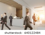 business people are walking in... | Shutterstock . vector #640122484