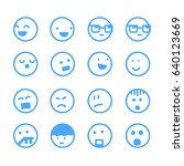 simple emoticons from the... | Shutterstock .eps vector #640123669