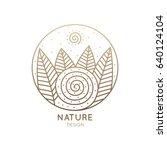 vector logo of nature elements... | Shutterstock .eps vector #640124104