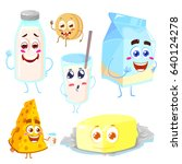 set of funny and happy... | Shutterstock .eps vector #640124278