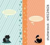 notebook cover. postcard.... | Shutterstock .eps vector #640124626