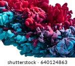 ink drop in water. abstract... | Shutterstock . vector #640124863