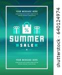 summer sale banner shopping on... | Shutterstock .eps vector #640124974