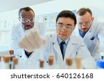 multiethnic group of scientists ... | Shutterstock . vector #640126168