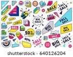 flat design sale website banner ... | Shutterstock .eps vector #640126204