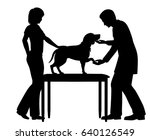 editable vector silhouette of a ... | Shutterstock .eps vector #640126549
