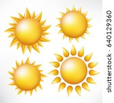set of the sun. vector image... | Shutterstock .eps vector #640129360
