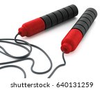 skipping rope isolated on white ... | Shutterstock . vector #640131259