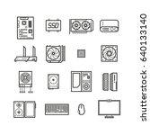 computer hardware  pc parts and ... | Shutterstock .eps vector #640133140