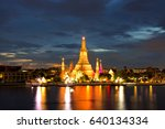 twilight time of wat arun... | Shutterstock . vector #640134334
