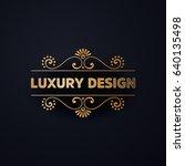 vector luxury wedding... | Shutterstock .eps vector #640135498