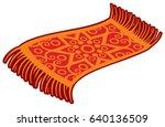 oriental magic carpet vector... | Shutterstock .eps vector #640136509