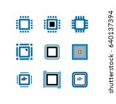 cpu and computer chips vector... | Shutterstock .eps vector #640137394