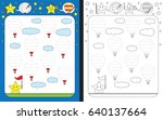 preschool worksheet for... | Shutterstock .eps vector #640137664