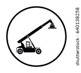 port loader icon. thin circle... | Shutterstock .eps vector #640138258