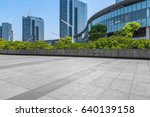 empty brick floor with... | Shutterstock . vector #640139158