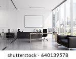 ceo office interior with a... | Shutterstock . vector #640139578