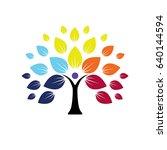 human life logo icon of... | Shutterstock .eps vector #640144594