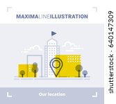 concept of company location ... | Shutterstock .eps vector #640147309