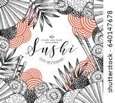 sushi restaurant fun design... | Shutterstock .eps vector #640147678