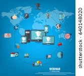 webinar illustration. online... | Shutterstock .eps vector #640148020