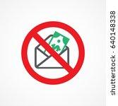 stop corruption icon | Shutterstock . vector #640148338