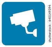 video surveillance sign blue.... | Shutterstock .eps vector #640149394
