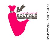 boutique colorful logotype with ... | Shutterstock .eps vector #640150870